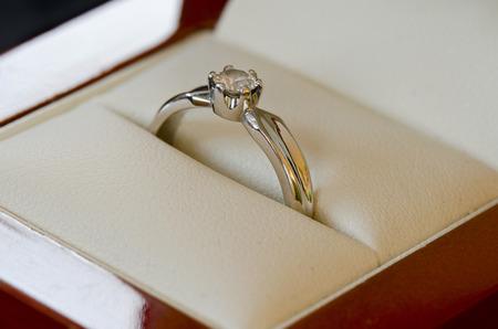 anillo de compromiso: Anillo de compromiso Foto de archivo