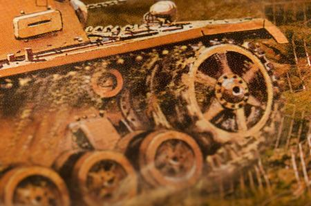 damping: German tiger tank Stock Photo