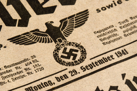 nazism: eagle and swastika Editorial