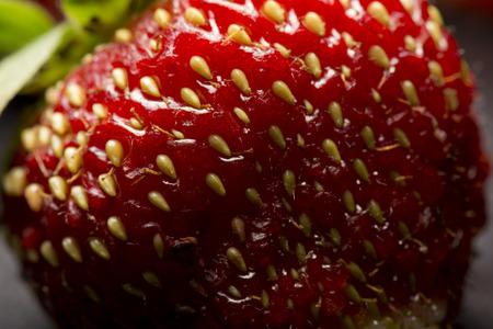熟した: 熟したイチゴ