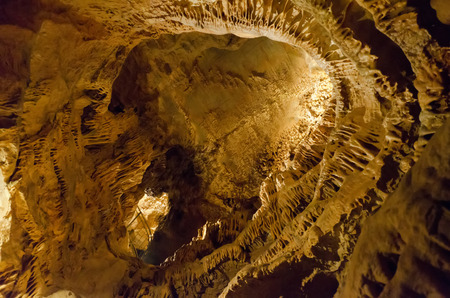 stalactites: ceiling caves with stalactites