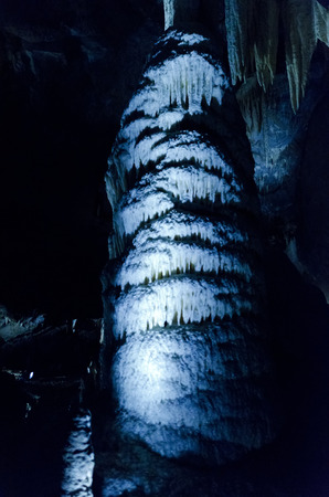 Stalagmite in the cave