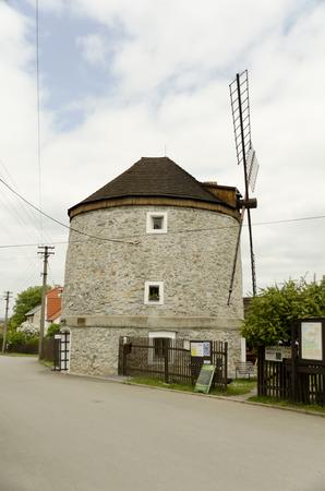 without window: two storey windmill
