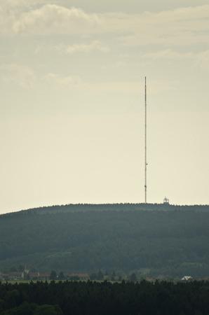 transmitter: Landscape with a television transmitter