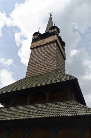church bell: wooden church bell tower
