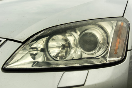 xenon: headlight on a car
