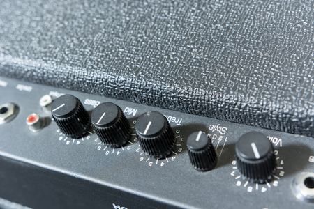 sound box: sound tone knobs