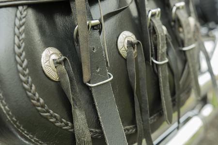 fringe: biker leather fringe boxing Stock Photo