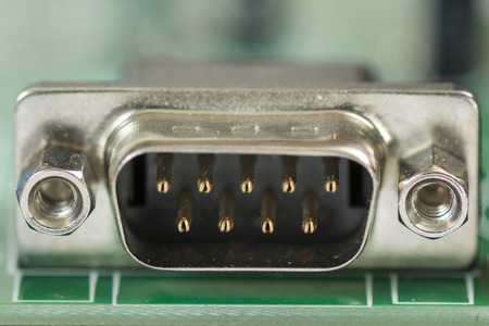 connector: computer connector on the PCB Stock Photo