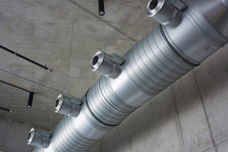 air hole: ventilation pipes, sheet Stock Photo