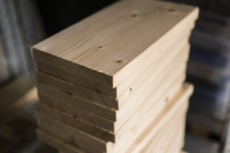 poised: Small wooden slats to Each Other