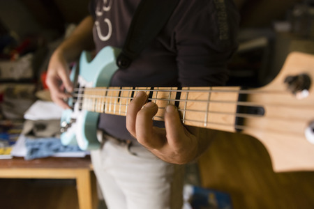 fingering: a play on the electric guitar