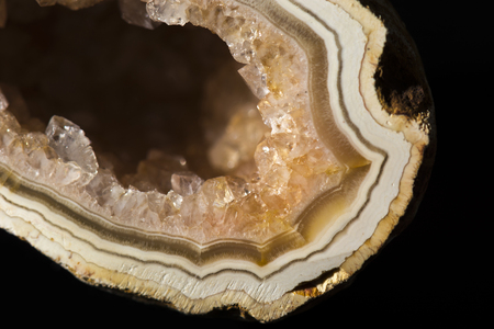 midst: agate crystal second in Their midst Stock Photo