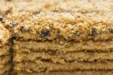 honey cake: light walnut honey cake