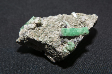 emerald stone: crystal emerald stone Stock Photo