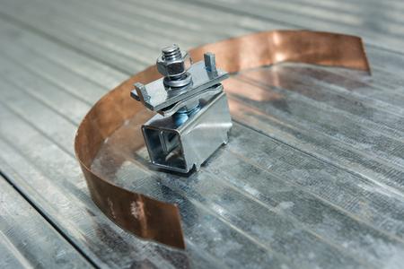 grounding: copper strip bonding and grounding terminal