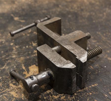 vise: handmade small metal vise