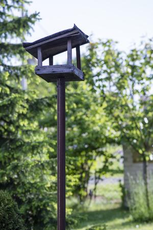 bird feeder: bird feeder in the garden Stock Photo
