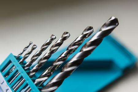 Set of drill bits of iron.