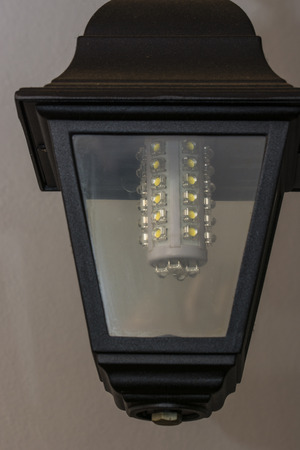 led lighting: LED bulb in decorative lamp.