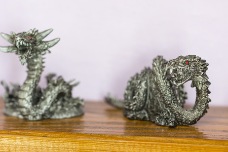 Pewter figurine fantastic snakes.