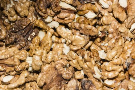 shelled: Shelled walnuts.