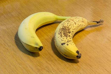 overripe: Ripe and overripe banana. Stock Photo
