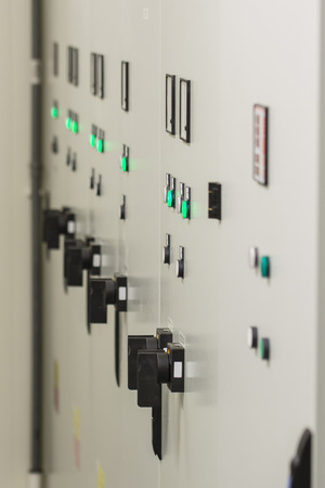 Switchboards with control elements in the substation.