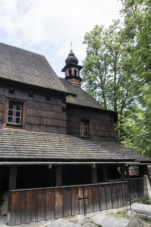 The upper part of the wooden church - a bell tower.