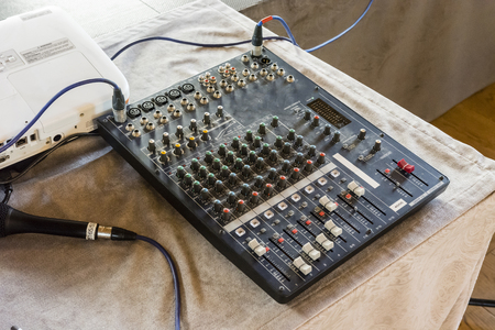 Mixing counter, old and used.