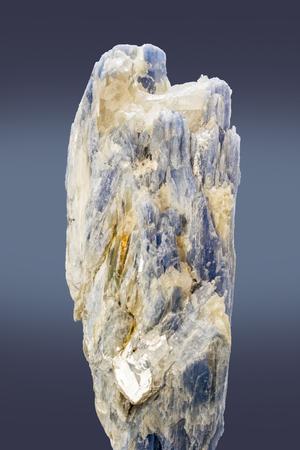 Crystal of bluish cyanide mineral.
