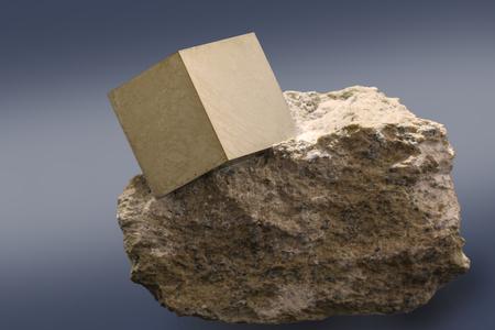 Square stone pyrite.