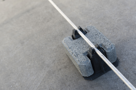 Tile piles for holding and guiding conductors.