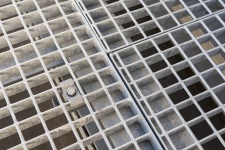 Snap detail of the metal grill. Stock Photo