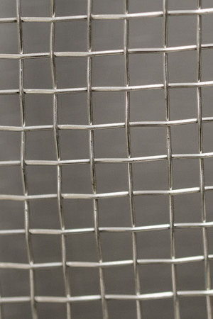 Stainless steel wire mesh. 写真素材