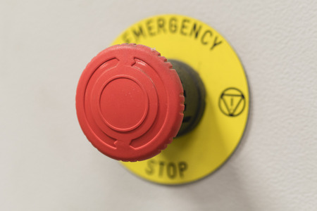 A safety red stop button. Imagens - 102958796