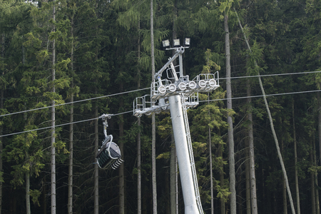 The chairlift for several people.