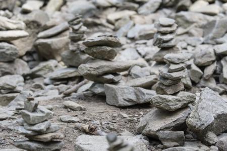 Stones built on itself. Stock fotó