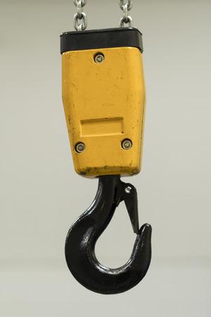 Metal hook on chain jack.