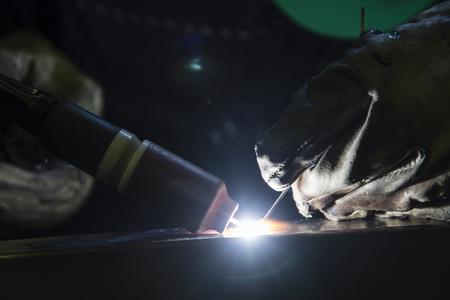 Detail of TIG welding. Фото со стока