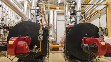 Boiler gas in the boiler room.