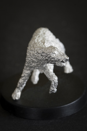Wolf with tilted ears - tin piece small.