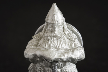 Tiny dwarf figure in detail. Banco de Imagens