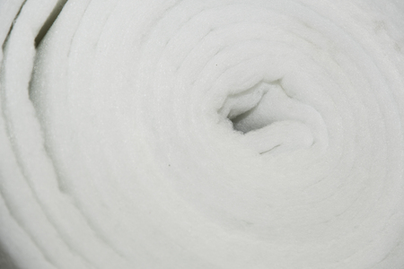 Roll with filter fabric. Stock Photo
