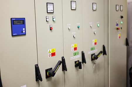 Indicator Lights On Switchgear Door In Substation.