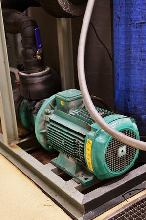 Large pump drive motor.