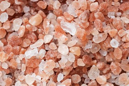 Coarse-grained pink Himalayan salt.