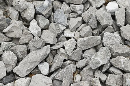 Gray broken stones.