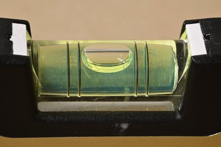 Detail of bubble in spirit level.