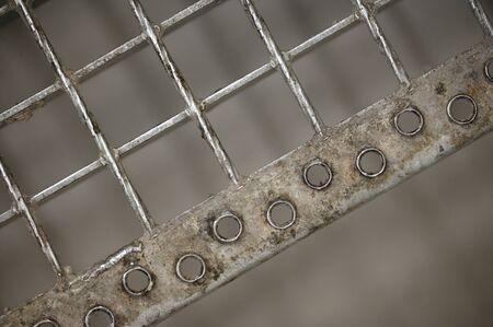 Non-slip openings on grate staircase. Reklamní fotografie